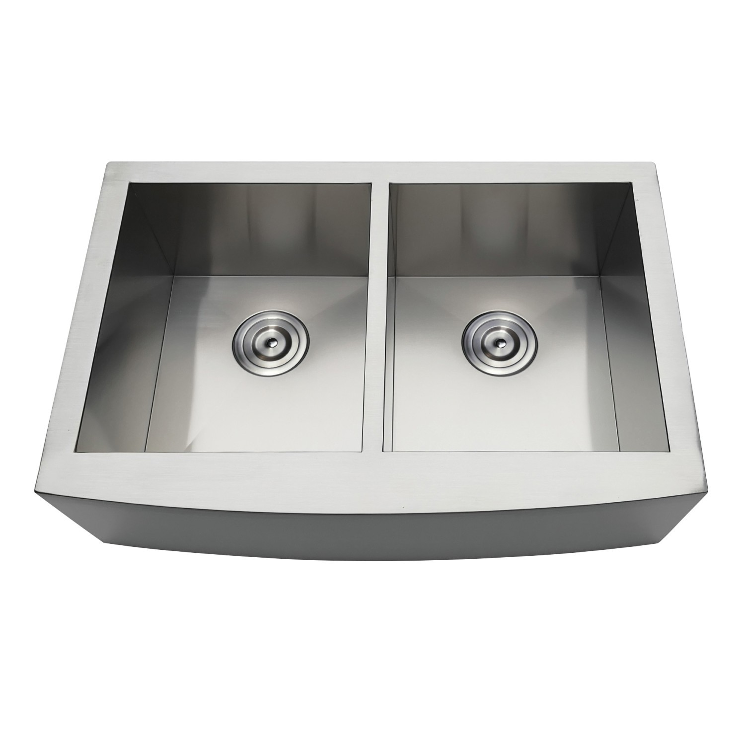KINGSTON BRASS KDS332291DBNR GOURMETIER UPTOWNE 33 INCH DROP-IN DOUBLE BOWL  18-GAUGE KITCHEN SINK (1 HOLE)