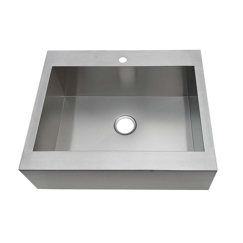 Picture of: Kingston Brass Gktsf302491 Edinburg Drop In 30 Inch Single Bowl Kitchen Sink