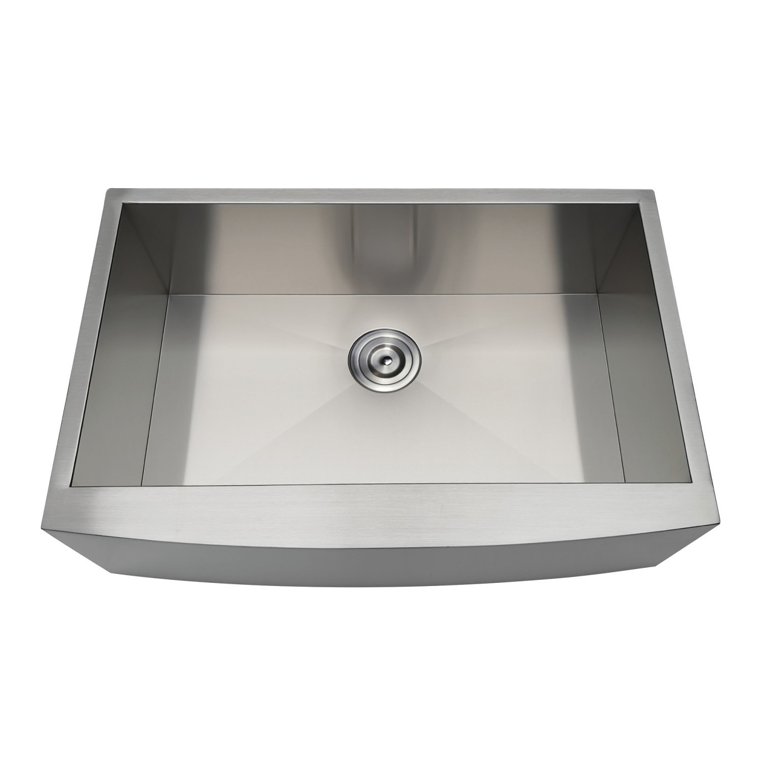KINGSTON BRASS GKUSF30209 GOURMETIER UPTOWNE 30 INCH UNDERMOUNT STAINLESS STEEL SINGLE FARMHOUSE KITCHEN SINK