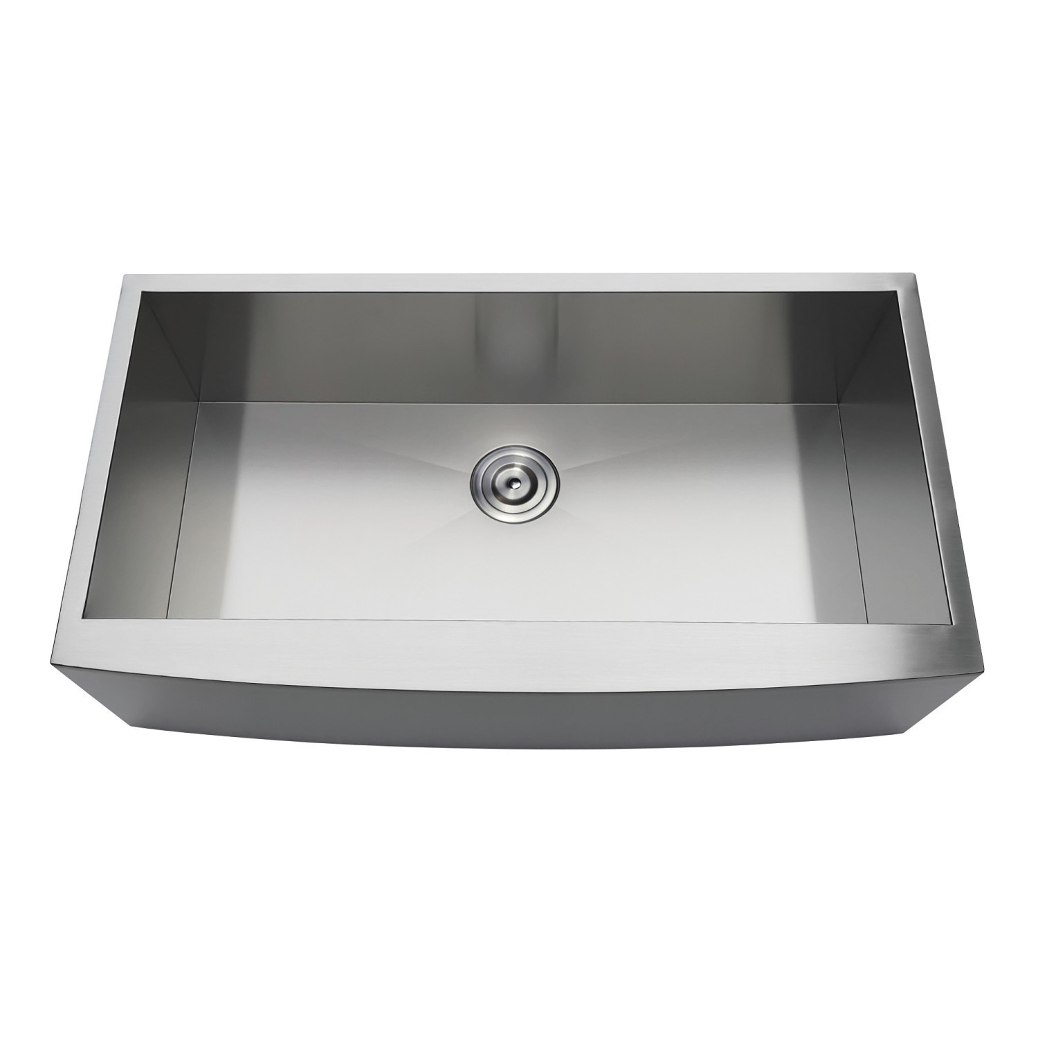 KINGSTON BRASS GKUSF36209 GOURMETIER UPTOWNE 36 INCH UNDERMOUNT STAINLESS STEEL SINGLE FARMHOUSE KITCHEN SINK