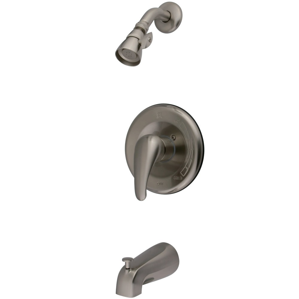 KINGSTON BRASS KB1638LL LEGACY TUB AND SHOWER FAUCET WITH IN BRUSHED NICKEL