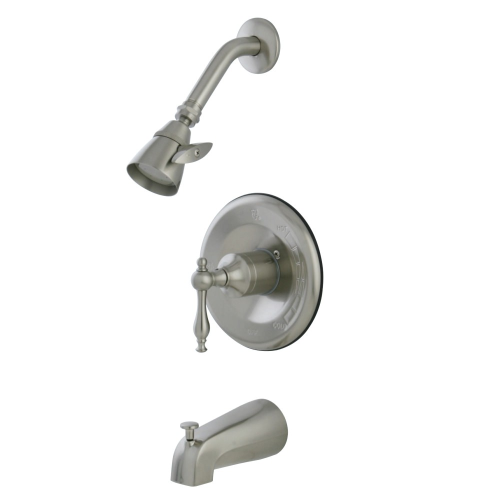 KINGSTON BRASS KB1638NL TUB AND SHOWER FAUCET IN BRUSHED NICKEL