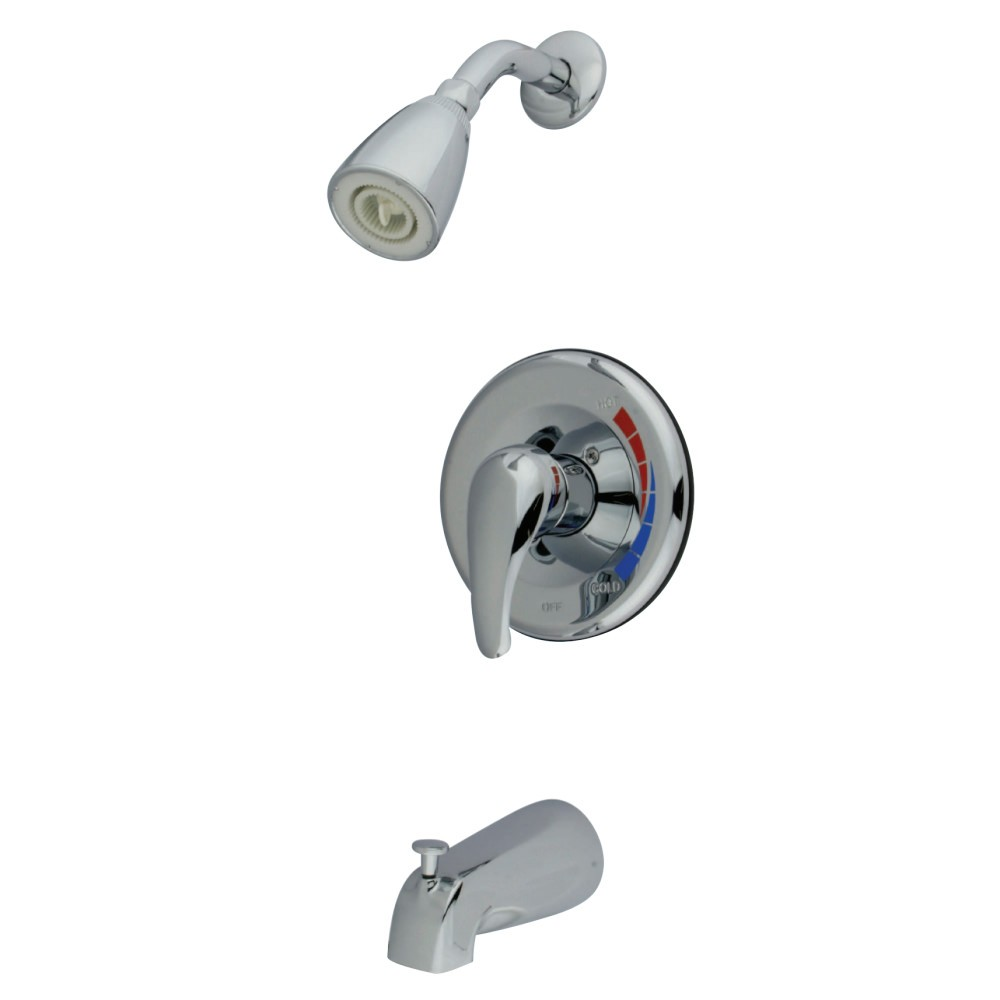 KINGSTON BRASS KB651SW TUB AND SHOWER FAUCET KB3631SWTV+ KB651T IN POLISHED CHROME