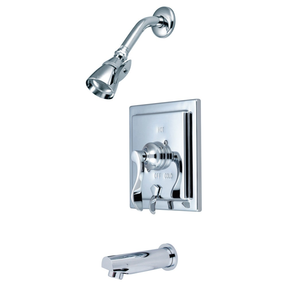 KINGSTON BRASS KB86510DFL TUB AND SHOWER FAUCET IN POLISHED CHROME