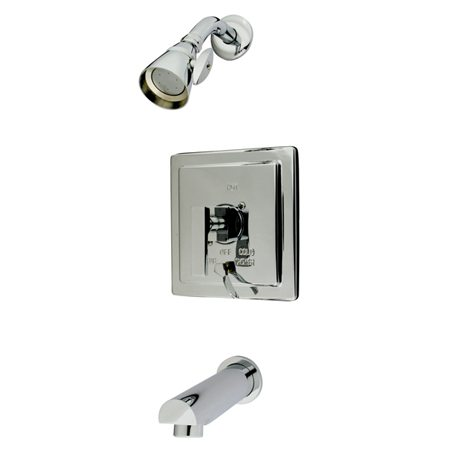 KINGSTON BRASS KB86510QLL EXECUTIVE TUB AND SHOWER FAUCET IN POLISHED CHROME