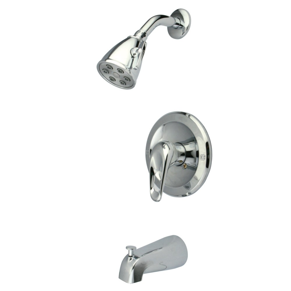 KINGSTON BRASS KS611CK TUB AND SHOWER FAUCET IN POLISHED CHROME