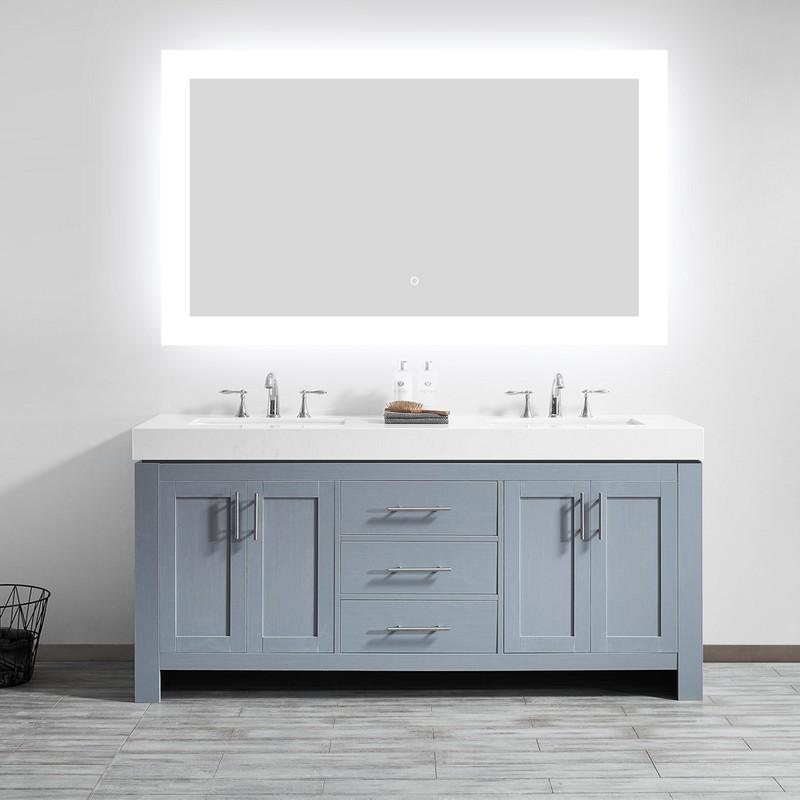 Vinnova 807048r Led Ac 48 Inch Rectangle Led Lighted Accent Bathroom Vanity Wall Mirror 807048r Led Ac 807048rledac