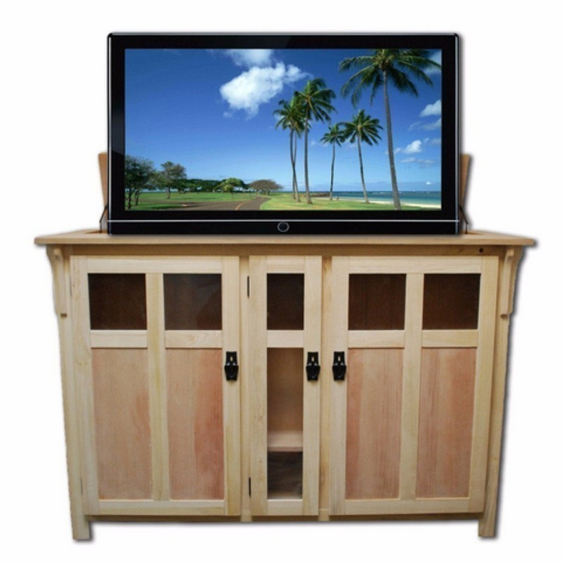 Touchstone 70162 The Bungalow Unfinished Tv Lift Cabinet For 60 Inch Flat Screen Tvs