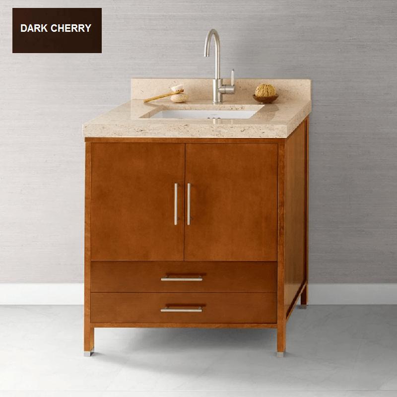 Ronbow Essentials 039230 3 H01 Juno 30 Inch Bathroom Vanity Cabinet Base In Dark Cherry
