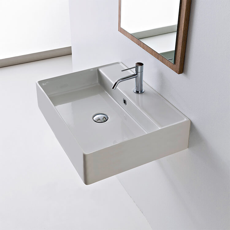 Scarabeo 8031 R 60 Wh Teorema 23 9 Inches Bathroom Sink 30