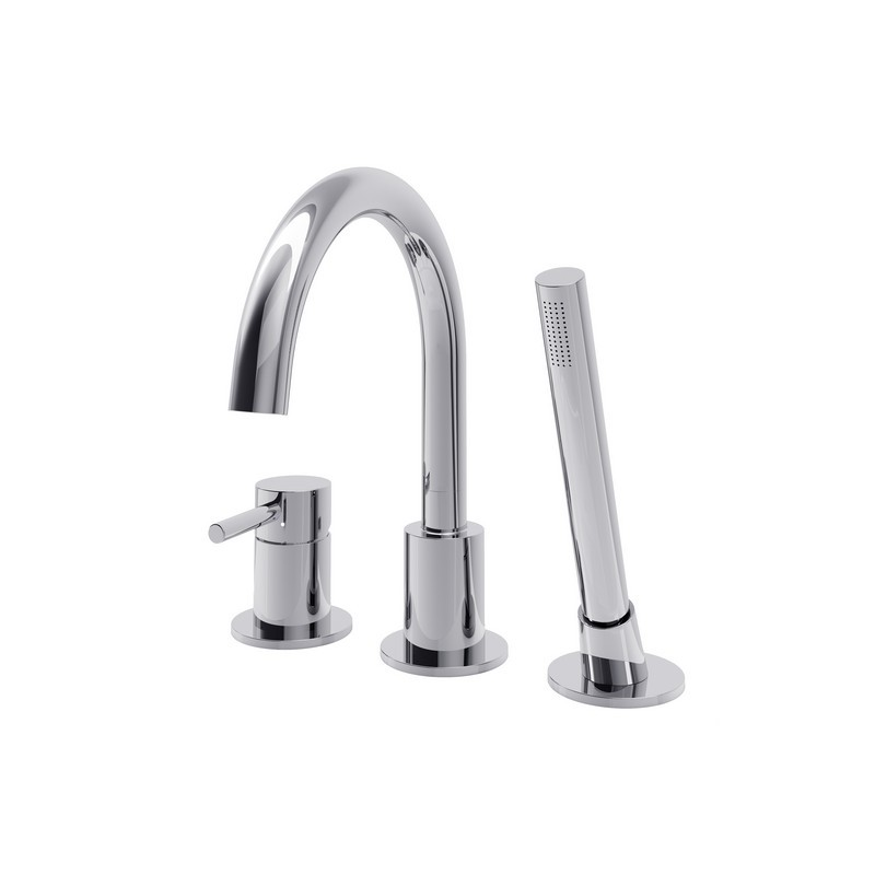A and E BATH AND SHOWER DMTF-01-R-CR OXFORD DECK MOUNT FAUCET WITH POLISHED CHROME FINISH