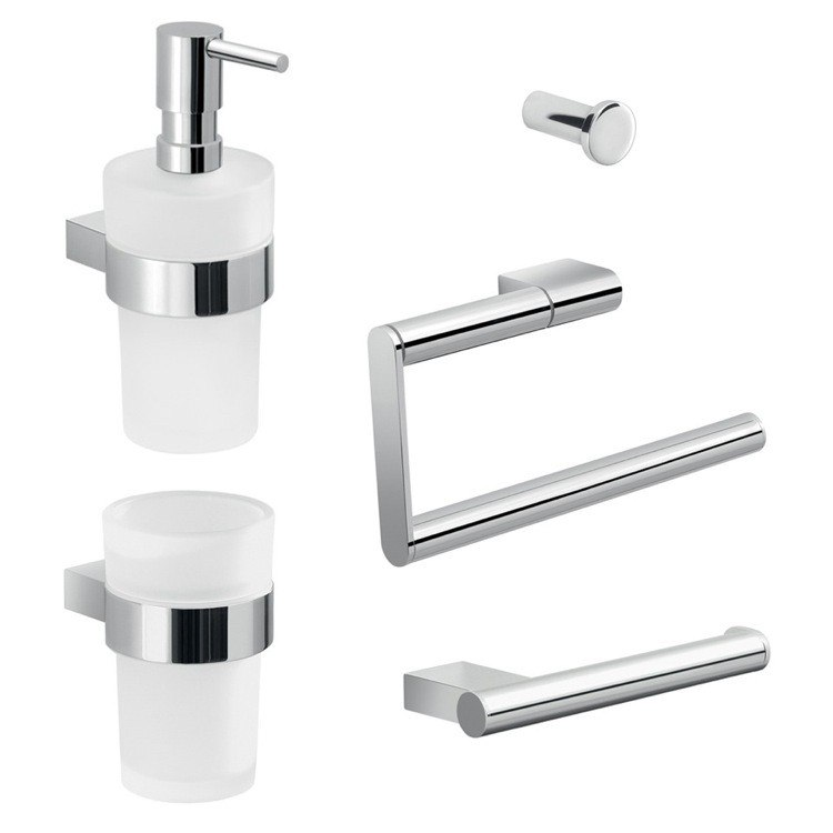 GEDY CAR103 CANARIE WALL MOUNTED BATHROOM HARDWARE SET