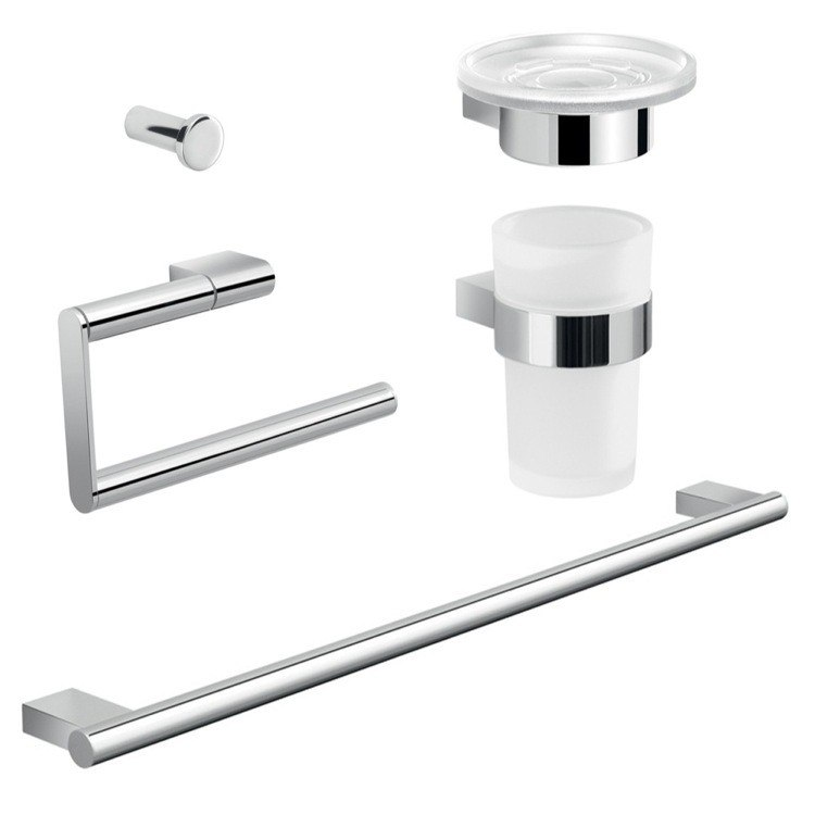 GEDY CAR105 CANARIE COMPLETE CANARIE BATHROOM ACCESSORY SET