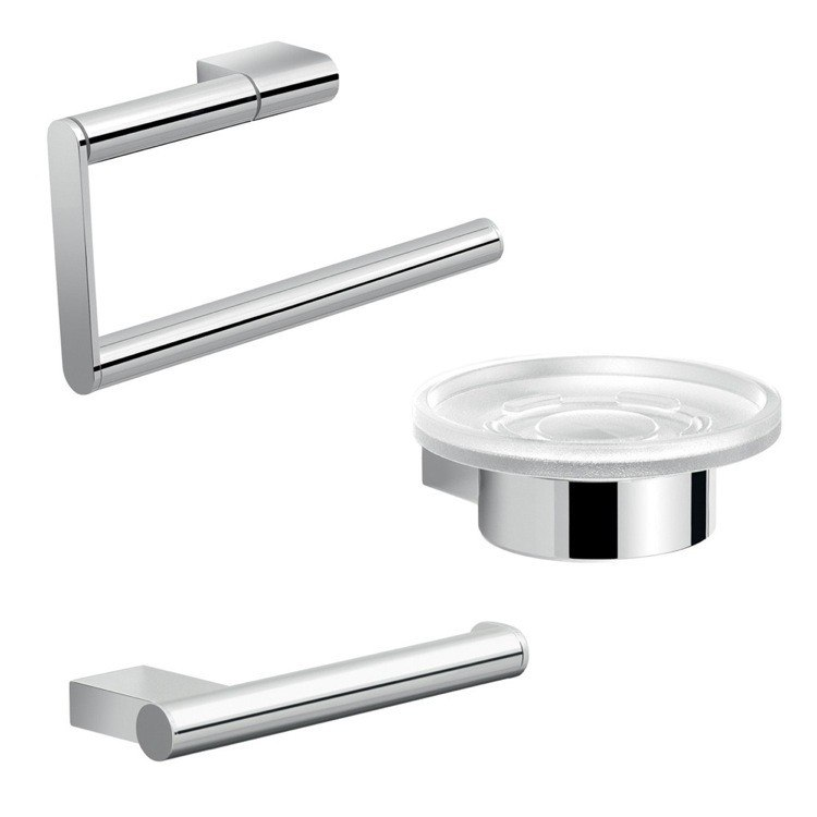GEDY CAR200 CANARIE CHROME CANARIE BATHROOM ACCESSORY SET
