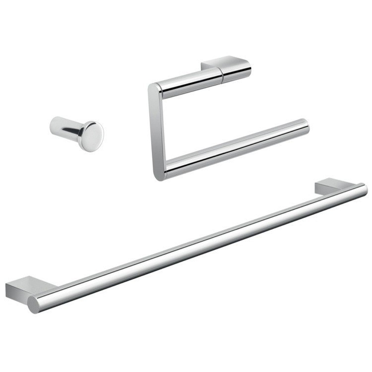 GEDY CAR202 CANARIE CHROME BATHROOM ACCESSORY SET