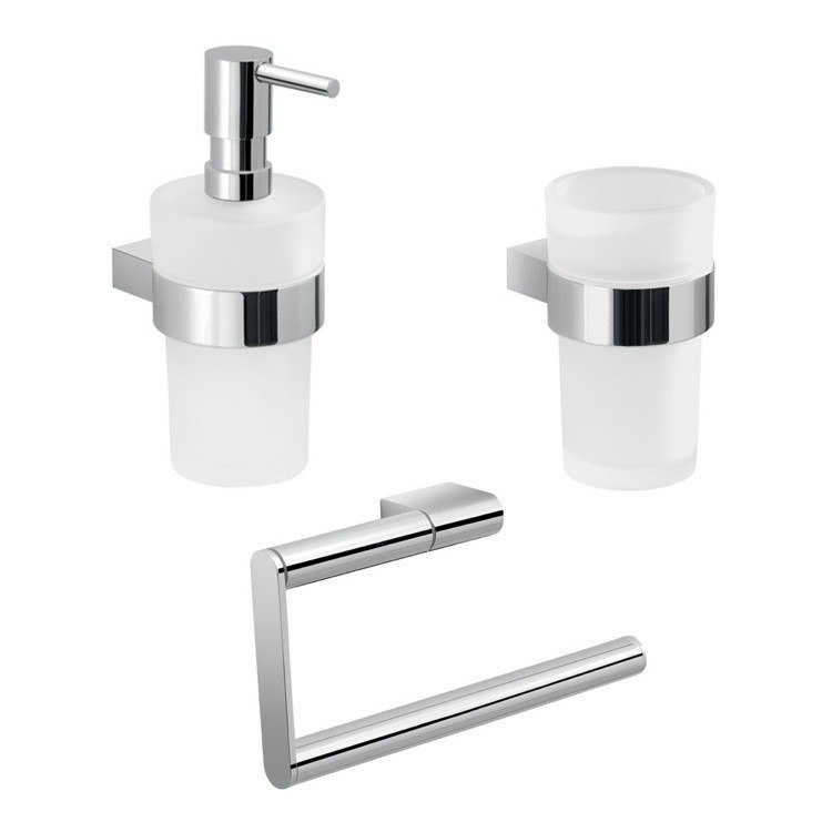 GEDY CAR204 CANARIE WALL MOUNTED CHROME ACCESSORY SET