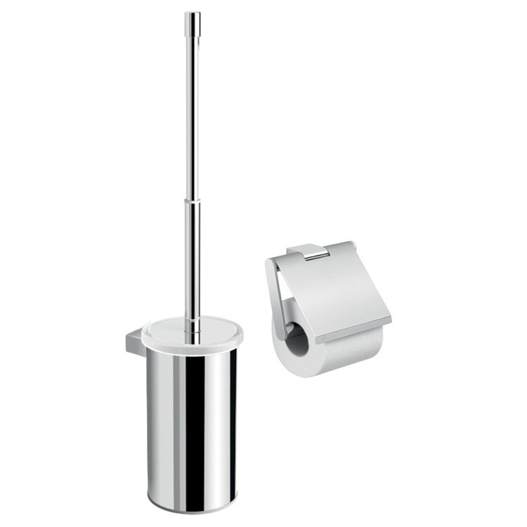 GEDY CAR511 CANARIE CHROME CANARIE BATHROOM TOILET ACCESSORY SET