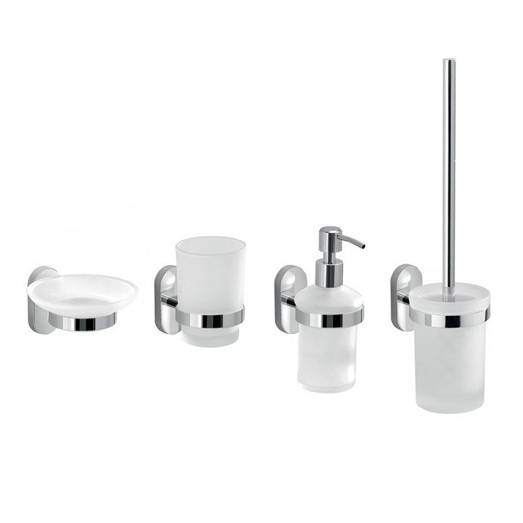 GEDY FEBO100-13 FEBO FOUR PIECE WALL MOUNTED ACCESSORY SET
