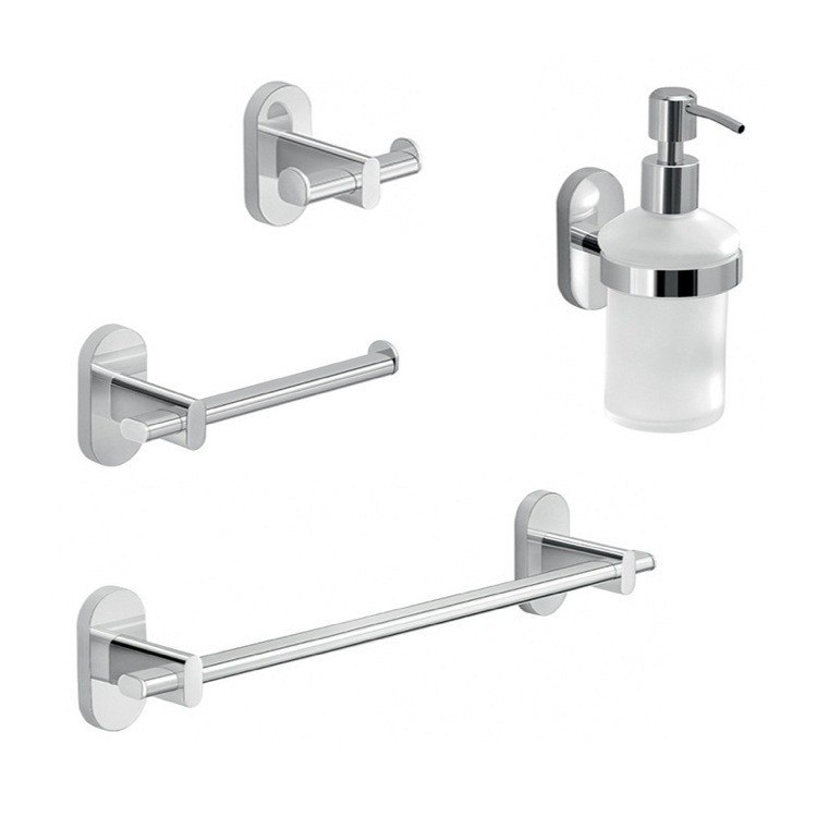 GEDY FEBO1421-13 FEBO 4 PC. CHROME HARDWARE SET