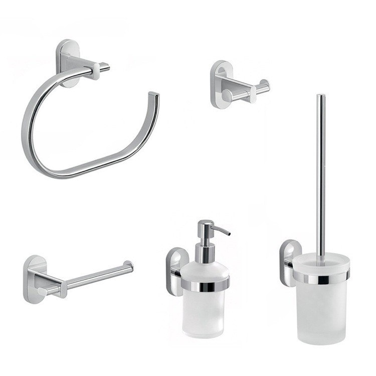 GEDY FEBO581-13 FEBO 5 PIECE COMBINATION HARDWARE AND ACCESSORY SET