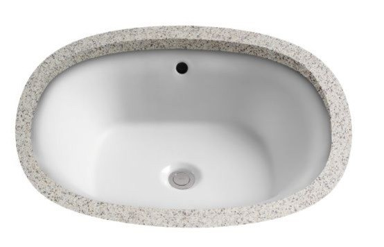 Toto LT483G Maris 17 5/8 Inch Undermount Bathroom Sink With Overflow And  SanaGloss