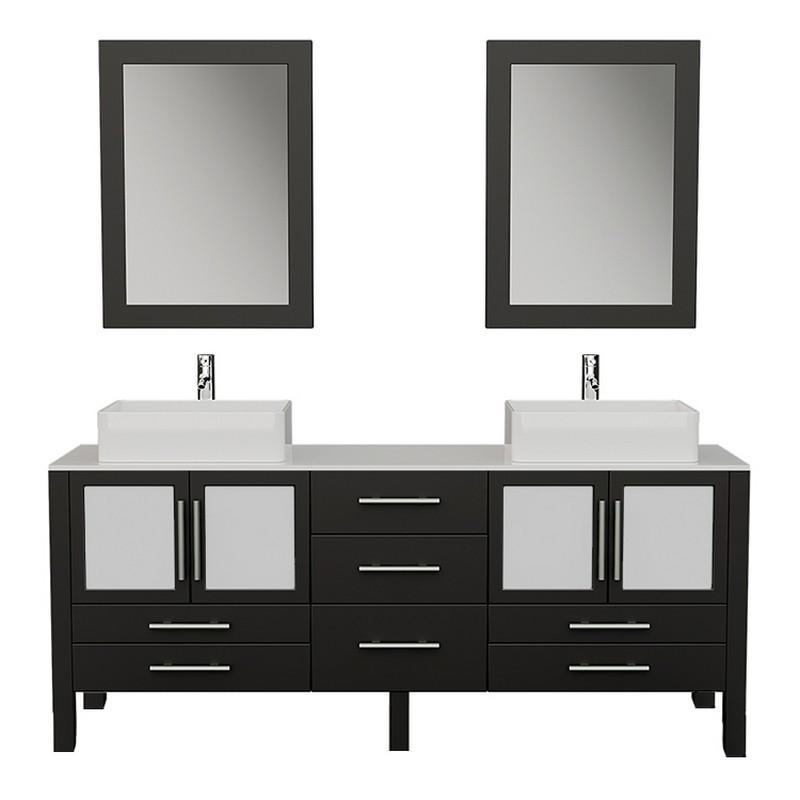 cambridge plumbing 8119xl espresso 71 inch solid wood double bathroom vanity set
