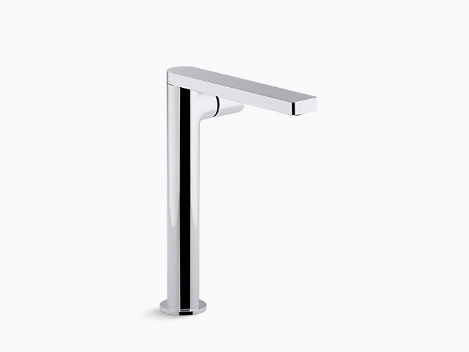 KOHLER K-73054-7 COMPOSED 1.2 GPM SINGLE HOLE VESSEL BATHROOM FAUCET WITH KNOB HANDLE AND DRAIN ASSEMBLY