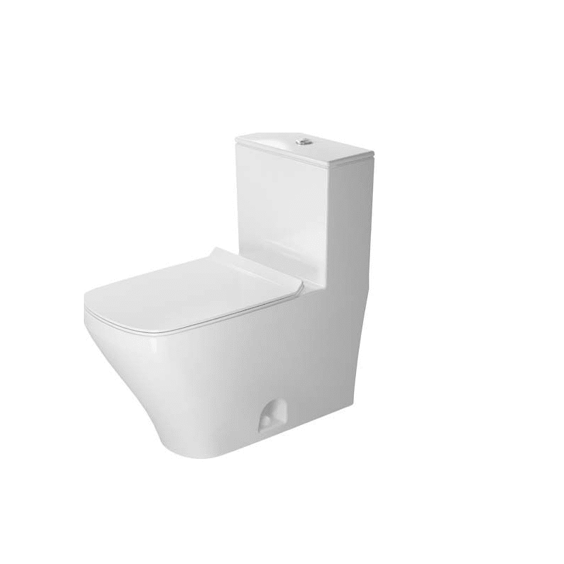 DURAVIT D4052100 DURASTYLE 0.92/1.32 GPF DUAL-FLUSH ONE PIECE ELONGATED TOILET WITH TOP FLUSH BUTTON - SEAT INCLUDED