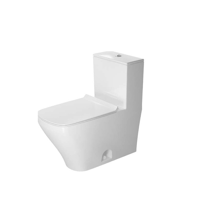 DURAVIT D4052200 DURASTYLE 1.28 GPF ONE PIECE ELONGATED TOILET WITH TOP FLUSH BUTTON - SEAT INCLUDED