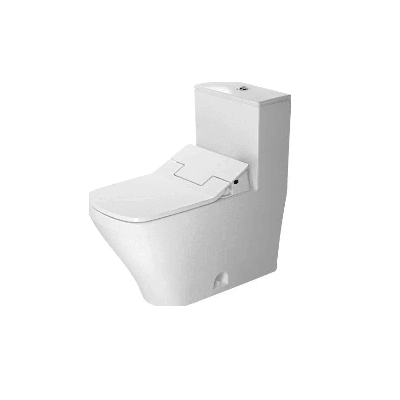 DURAVIT D4052400 DURASTYLE 0.92/1.32 GPF DUAL-FLUSH ONE PIECE ELONGATED TOILET WITH TOP FLUSH BUTTON - WASHLET SEAT INCLUDED