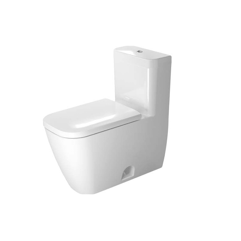 DURAVIT D4102100 HAPPY D.2 0.92/1.32 GPF DUAL-FLUSH ONE PIECE ELONGATED TOILET WITH TOP FLUSH BUTTON - SEAT INCLUDED