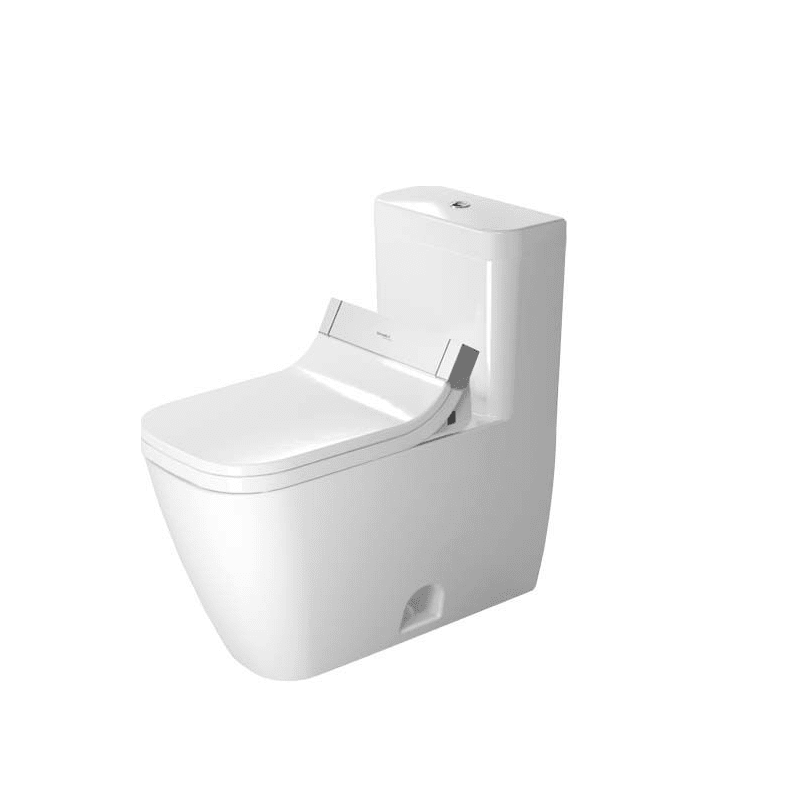 DURAVIT D4102200 HAPPY D.2 0.92/1.32 GPF DUAL-FLUSH ONE PIECE ELONGATED TOILET WITH TOP FLUSH BUTTON - WASHLET SEAT INCLUDED