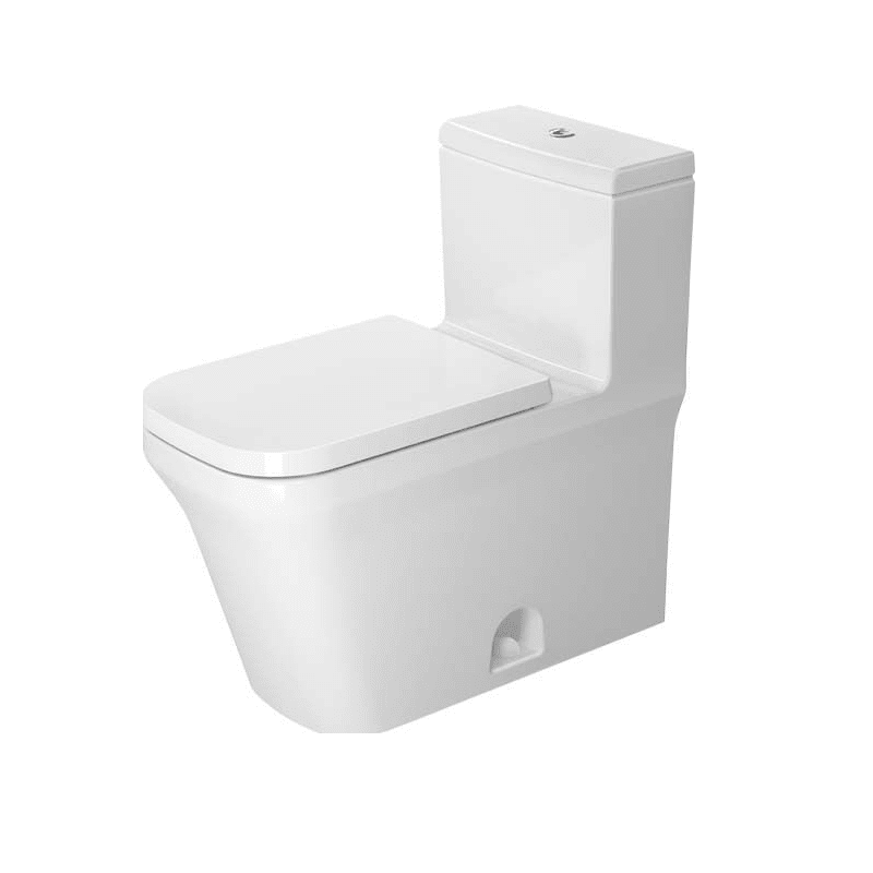 DURAVIT D4501300 P3 COMFORTS 1.28 GPF ONE PIECE ELONGATED CHAIR HEIGHT TOILET WITH TOP FLUSH BUTTON - SEAT INCLUDED