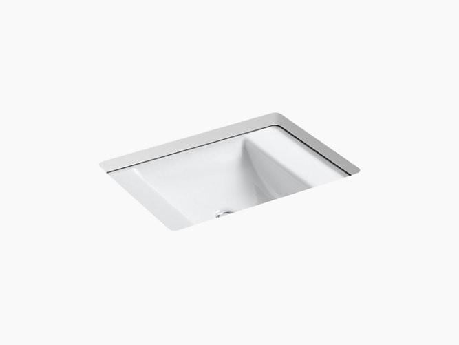 KOHLER K-2838 LEDGES 13 INCH CAST IRON UNDERMOUNT BATHROOM SINK WITH OVERFLOW
