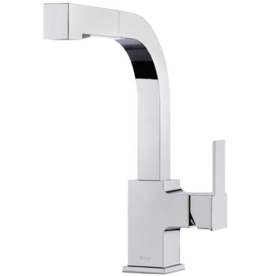 PFISTER LG534-LPM ARKITEK 12 1/8 INCH SINGLE LEVER HANDLE DECK MOUNT PULL-OUT KITCHEN FAUCET