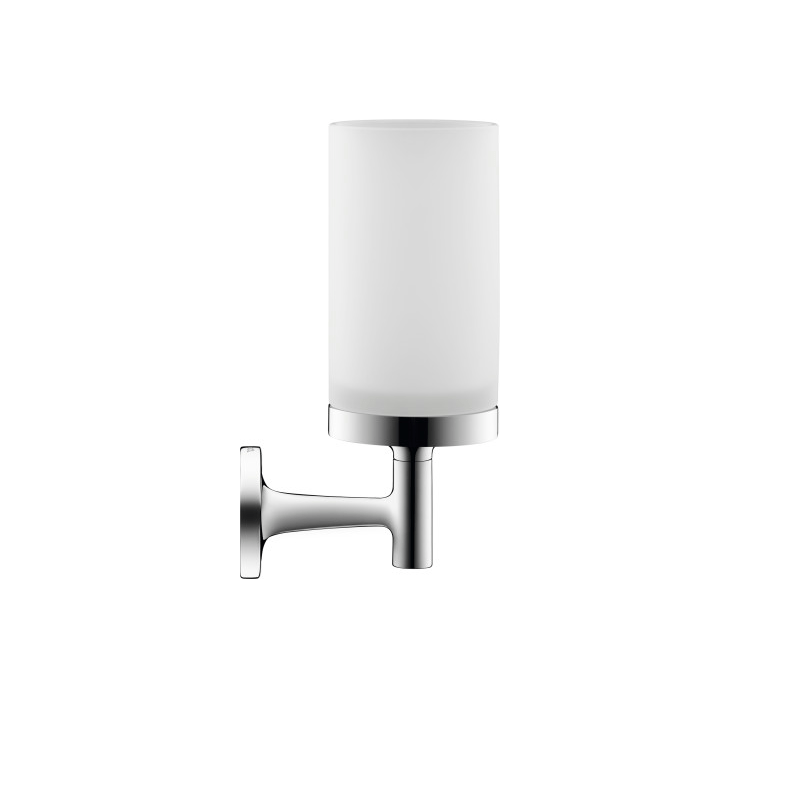DURAVIT 009931 STARCK T 2 1/2 INCH WALL-MOUNTED FROSTED GLASS HOLDER