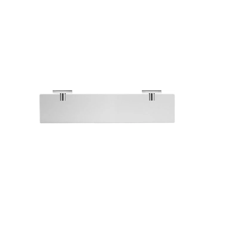 DURAVIT 0099501000 KARREE 23 5/8 INCH GLASS SHELF WITH FROSTED GLASS IN CHROME