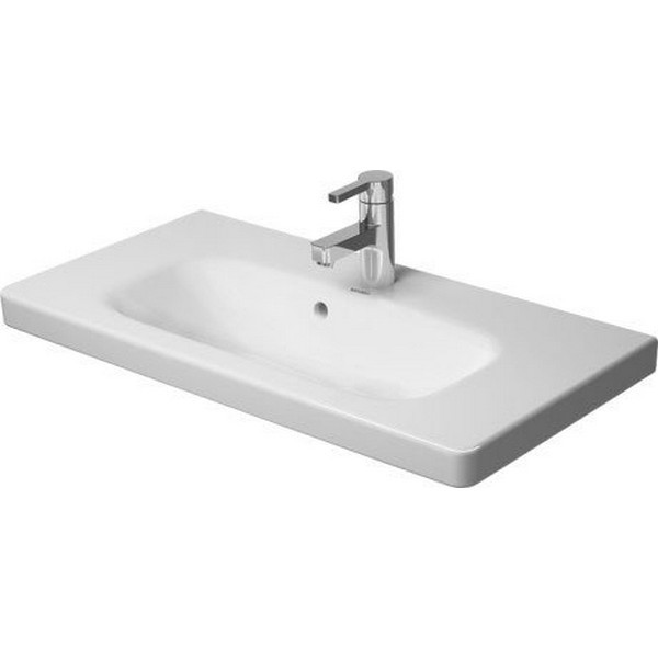 DURAVIT 2337780000 DURASTYLE 30-7/8 INCH 1-HOLE WALL-MOUNTED WASHBASIN COMPACT IN WHITE