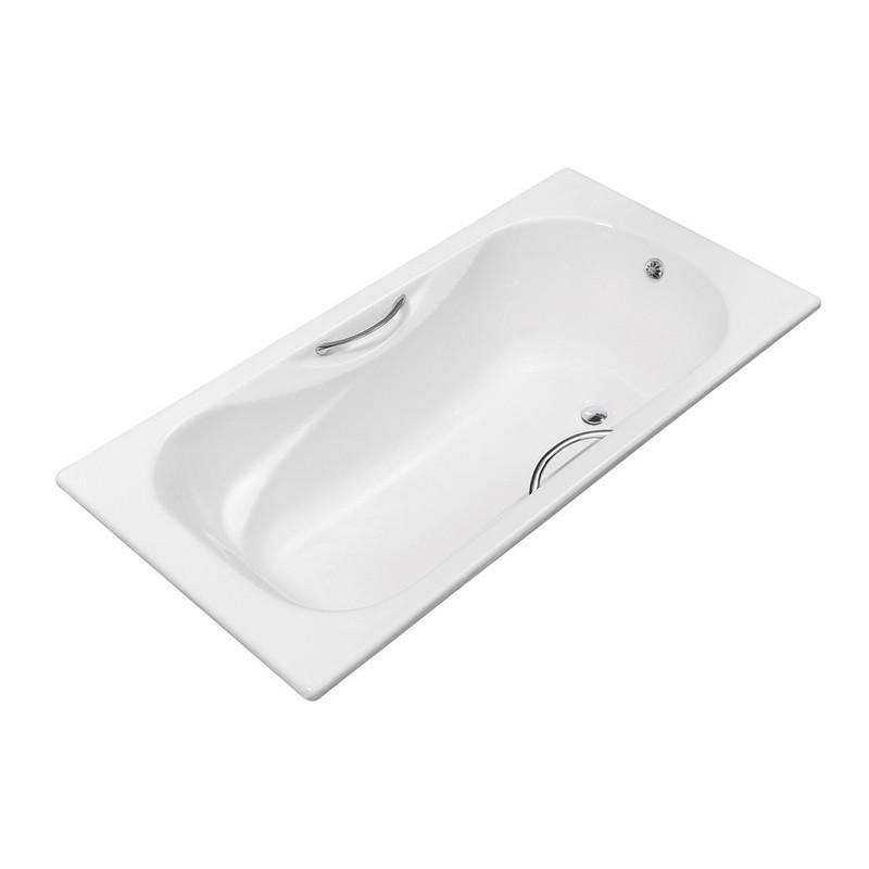 STREAMLINE R5581CH 63 INCH CAST IRON DROP IN BATHTUB WITH EXTERNAL DRAIN