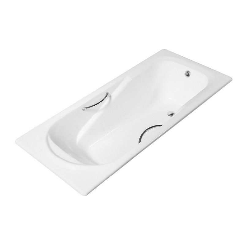 STREAMLINE R5600CH 59 INCH CAST IRON DROP IN BATHTUB WITH EXTERNAL DRAIN