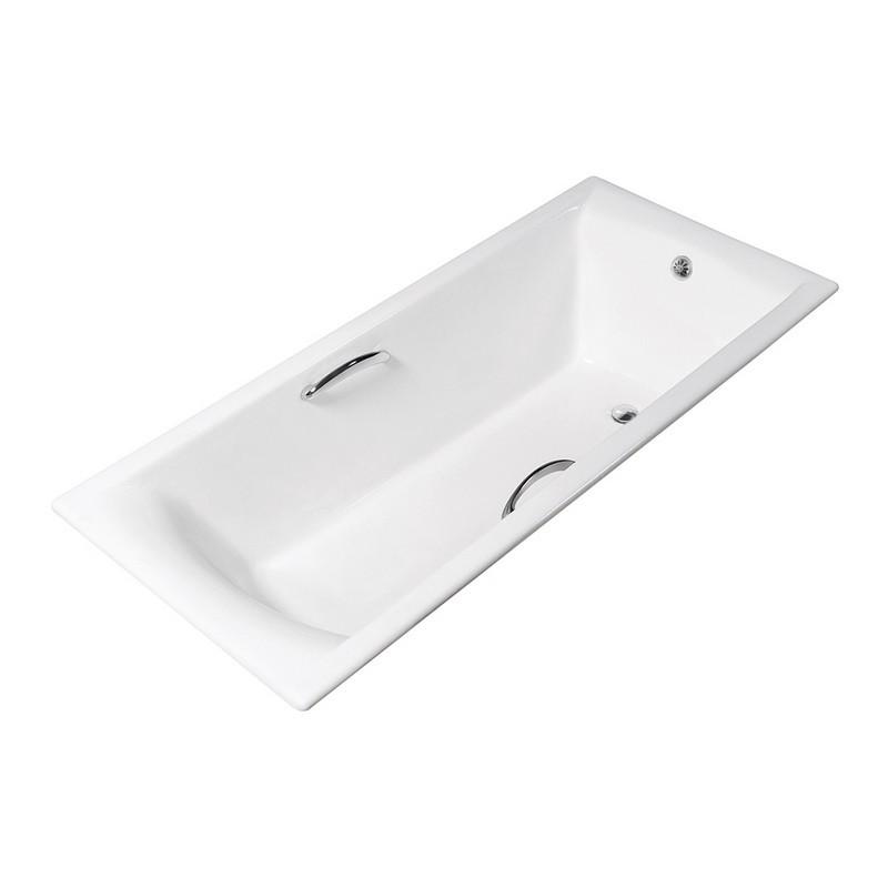 STREAMLINE R5660CH 59 INCH CAST IRON DROP IN BATHTUB WITH EXTERNAL DRAIN
