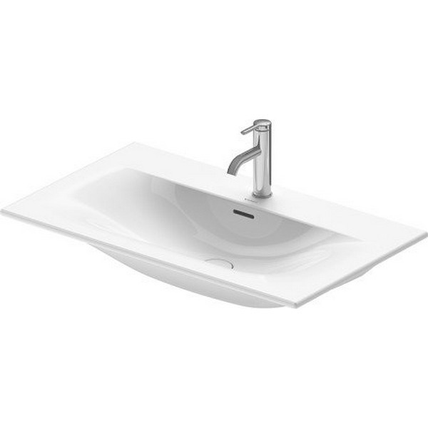 DURAVIT 234483 VIU 32-5/8 INCH WALL-MOUNTED WASHBASIN WITH OVERFLOW IN WHITE