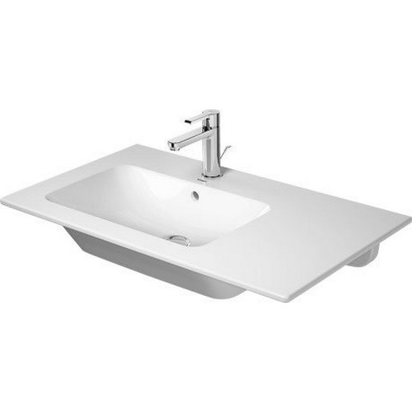 DURAVIT 234583 ME BY STARCK 32-5/8 INCH WALL-MOUNTED LEFT FURNITURE WASHBASIN WITH OVERFLOW