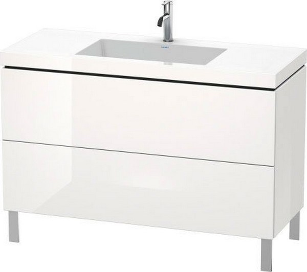DURAVIT LC6939 L-CUBE 47 1/4 INCH FLOOR-STANDING VANITY WITH C-BONDED FURNITURE WASHBASIN