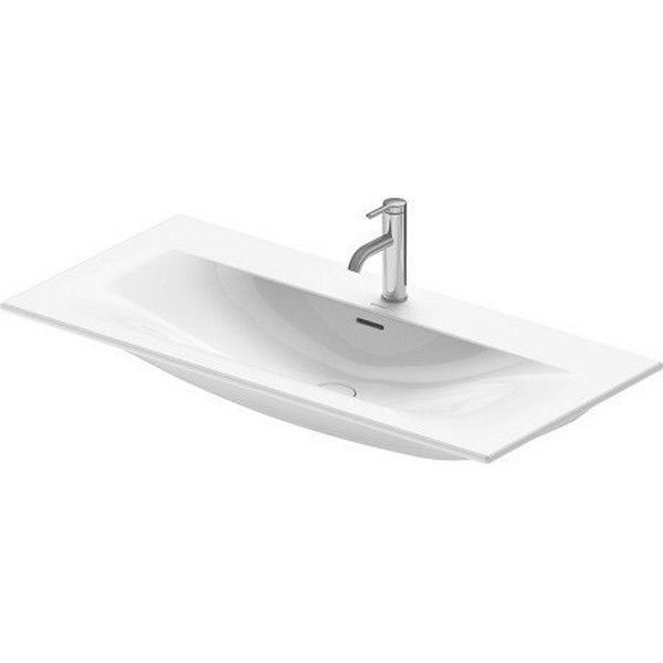 DURAVIT 234410 VIU 40-1/2 INCH WALL-MOUNTED FURNITURE WASHBASIN WITH OVERFLOW