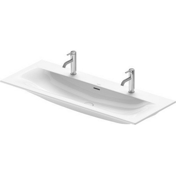 DURAVIT 234412 VIU 48-3/8 INCH WALL-MOUNTED 2-HOLES WASHBASIN WITH OVERFLOW