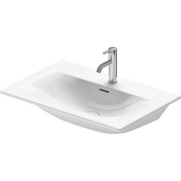 DURAVIT 234473 VIU 28-3/4 INCH WALL-MOUNTED WASHBASIN WITH OVERFLOW IN WHITE