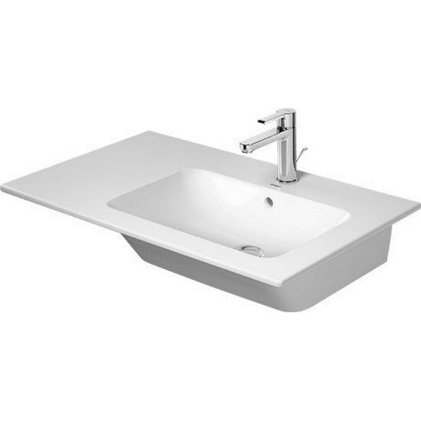 DURAVIT 234683 ME BY STARCK 32-5/8 INCH WALL-MOUNTED RIGHT FURNITURE WASHBASIN WITH OVERFLOW IN WHITE