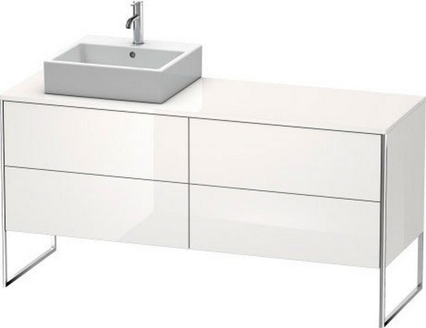 DURAVIT XS4924 XSQUARE 63 INCH FLOOR-STANDING VANITY UNIT FOR CONSOLE