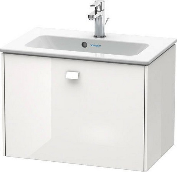 DURAVIT BR4010 BRIOSO 24 3/8 INCH WALL-MOUNTED VANITY UNIT COMPACT WITH CHROME HANDLE